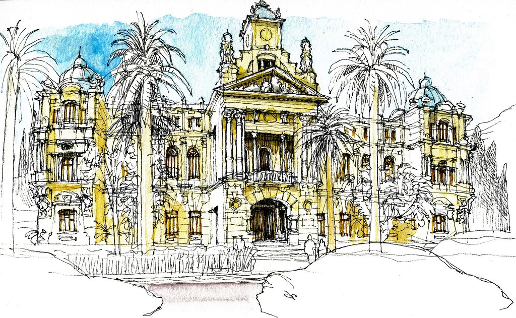 Urban sketchers spain el mundo dibujo a dibujo - El mundo andalucia malaga ...