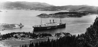"Hjelpekrysseren ""Berlin"" internert i Trondheimsfjorden 1914 - 1919 / German auxiliary cruiser ""Berlin"" detained in the Trondheimsfjord 1914 - 1919"
