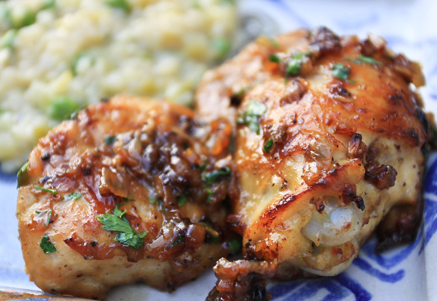 Roast chicken with caramelized shallots | Flickr - Photo Sharing!