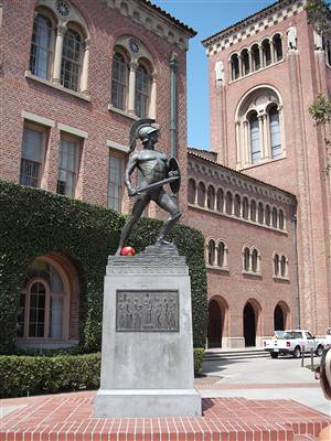 University of Southern California Tommy Trojan statueUniversity Of Southern California Mascot