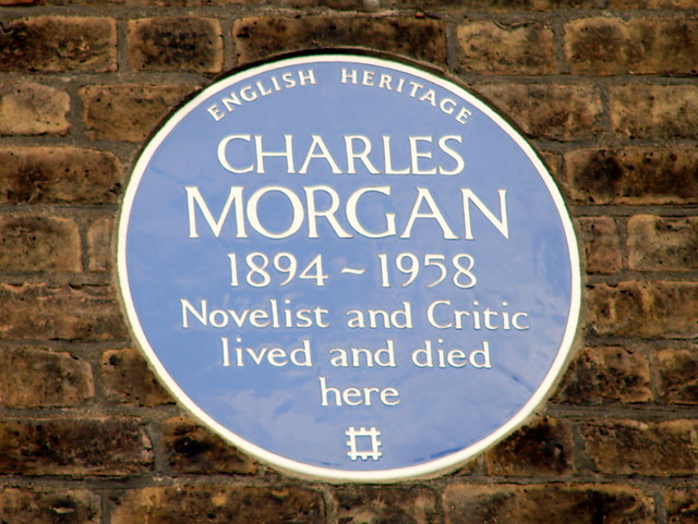 Charles Morgan blue plaque - Charles Morgan 1894-1958 Novelist and Critic lived and died here