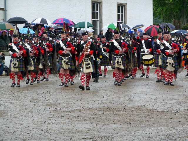 Atholl Highlanders at Blair Castle, Perthshire, Scotland