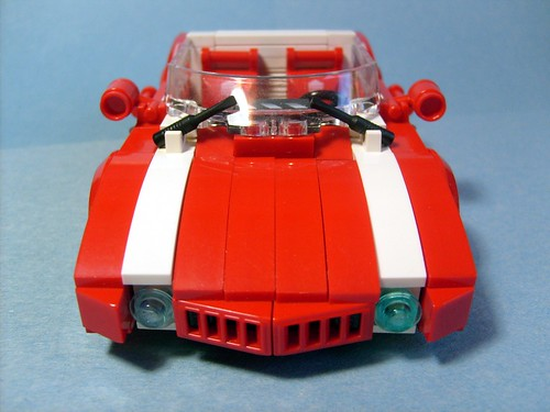 red racer car front low