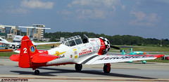 monoplane, aviation, airplane, propeller driven aircraft, vehicle, air racing, general aviation, north american t-6 texan, flight,