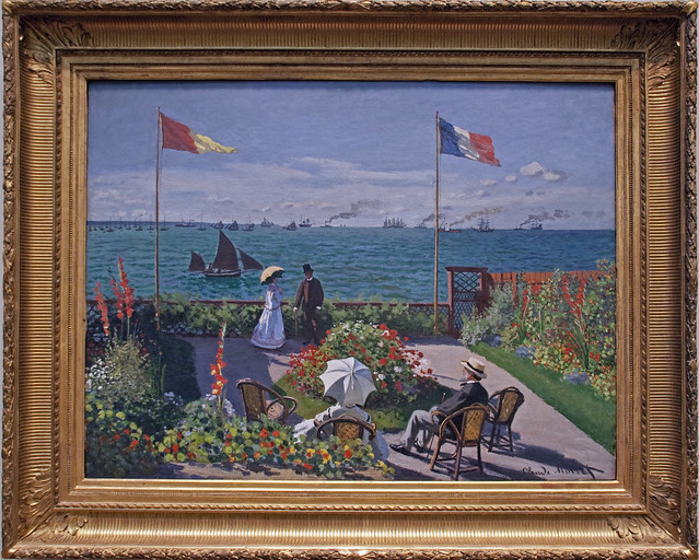 Claude Monet Garden At Sainte Adresse Flickr Photo