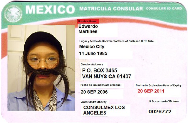 Mexican matricula consular fake id card flickr photo for Who is a consular