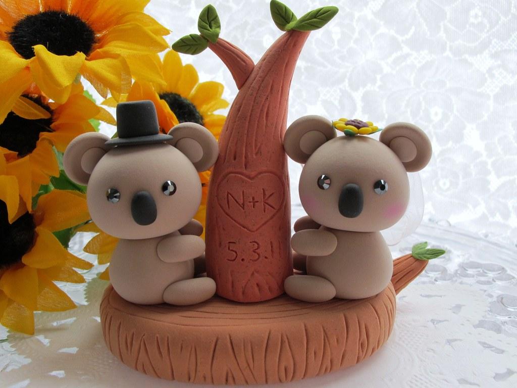 lovely koala cake topper