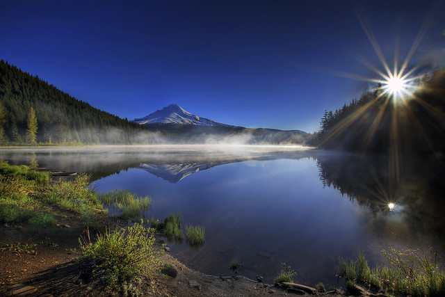 Sunrise at Trillium Lake, Oregon 3 - HDR
