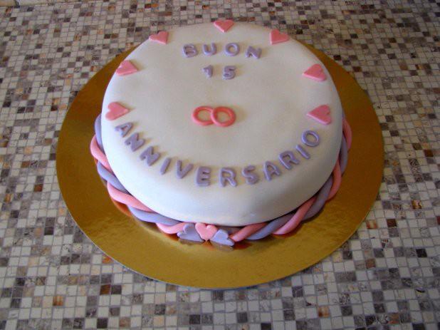15th anniversary cake