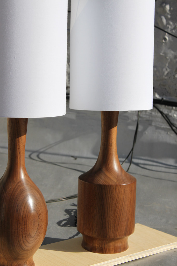Walnut Lamps
