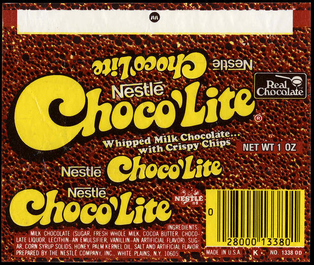 Nestle Choco Lite Candy Bar Wrapper Late 1970 S
