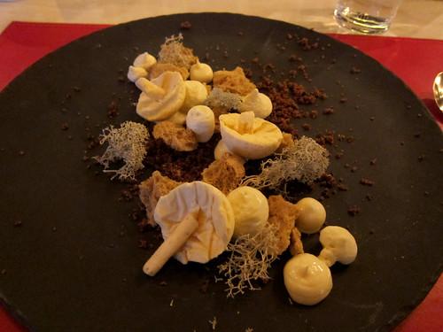 Candy Cap Mushroom Frozen Parfait