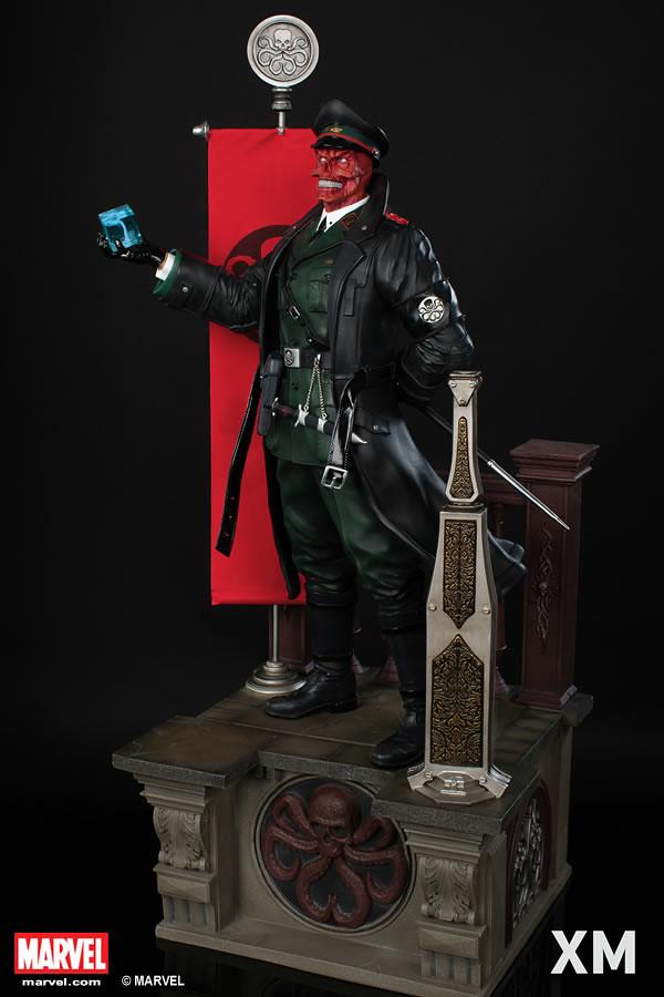 九頭蛇萬歲!!XM Studios Premium Collectibles【紅骷髏】Red Skull 1/4 比例 全身雕像作品