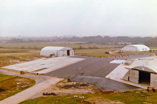 HMS Daedalus (RNAS Lee-on-Solent) 781 Sq, SAR ramp and hangars