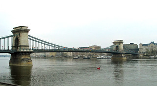 Budapest - April 2003 - Chain Bridge over the Danube