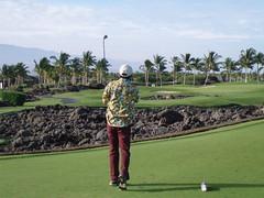 ハワイ島でゴルフ