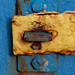 Corroded hasp and staple