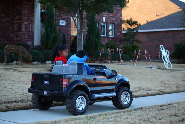 kids in motorized ford f 150 truck flickr photo sharing