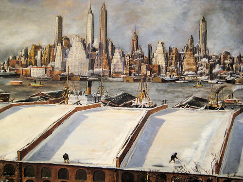 Manhattan Skyline - 1934 New Deal Painting at Smithsonian American Art Museum