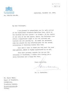 1975-12-10: Brev fra borgermester Ivo Samkalden i Amsterdam (1975)