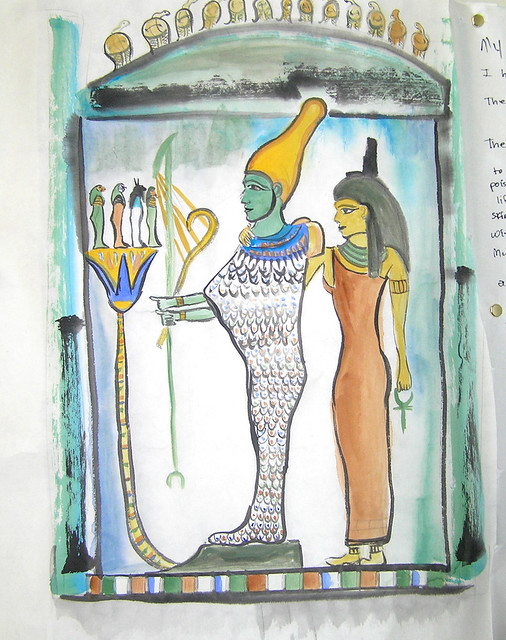Osiris and Isis 2 | Here is an excerpt from my Egyptian Book… | Flickr