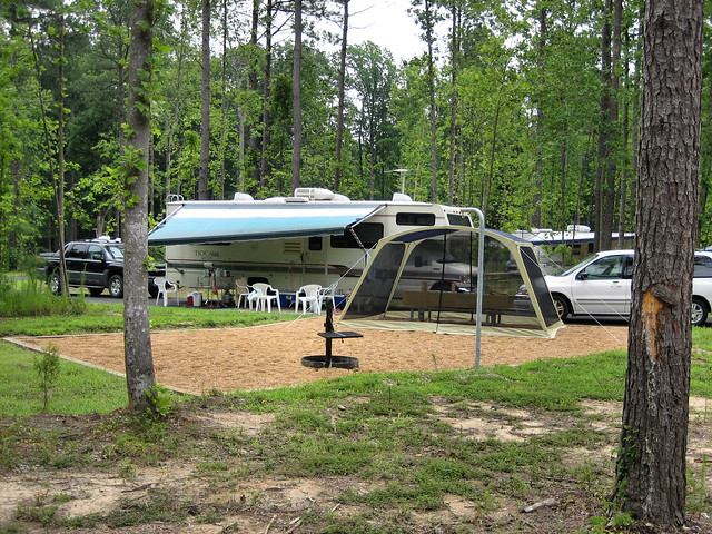 The larger RV Sites in newer Campground B are very popular, but Campground A features smaller, more wooded sites for pop-ups and tent campers.