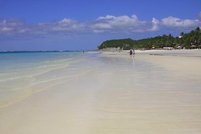 Vastness of Boracay's White Beach