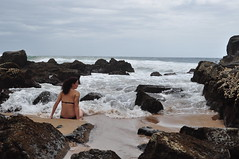 Lois Paddling in the Indian Ocean