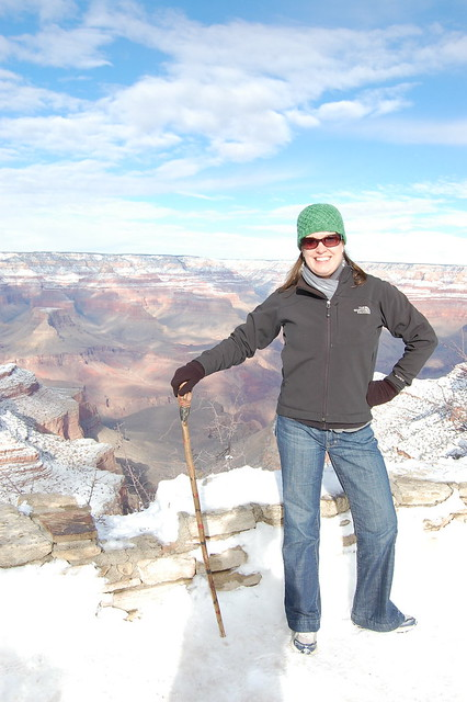 Posing at the Grand Canyon