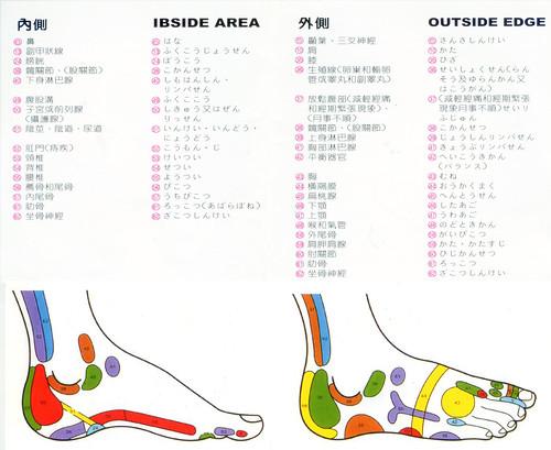 日文腳底反射區外側