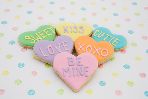 Conversation Heart Cookies | Flickr - Photo Sharing!