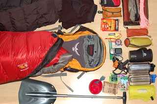 Gear for lightweight snow camping