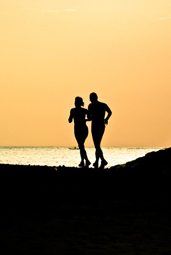 #Travel #People (Jogging in Sunset)