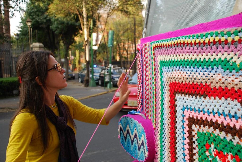 Urban Knitting Graffiti : Urban cozy project artist profile magda sayeg