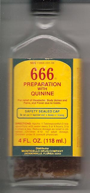 666 Preparation With Quinine Bottle 1983 Flickr Photo