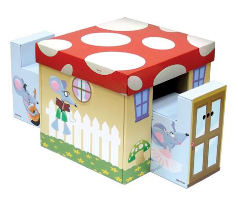 Como hacer baules infantiles de carton imagui - Muebles para juguetes infantiles ...