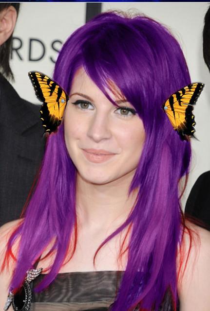 hayley williams purple hair -#main