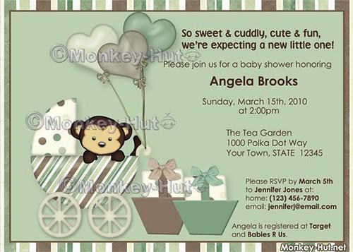 monkey baby shower invitation flickr photo sharing