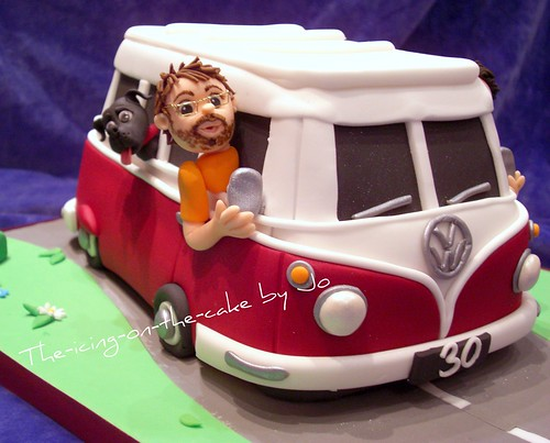 Camper van cake ~ the Birthday boy! ... and his dog!