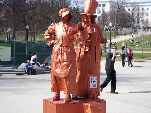 live statue