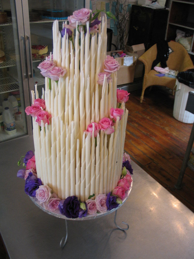 Wedding Cake With Lilac