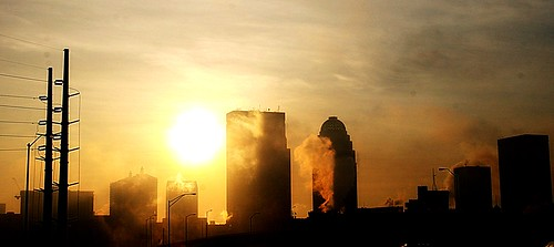 sunlight fog skyline clouds sunrise buildings geotagged downtown cityscape skyscrapers smoke silhouettes steam powerlines louisville sunrays ohioriver louisvilleky cky louisvillekentucky utilitypoles ohiorivervalley downtownlouisville jeffersoncountyky centralkentucky ohiorivercity jeffersoncountykentucky centralky theaegoncenter geo:lat=38277068 geo:lon=85801188