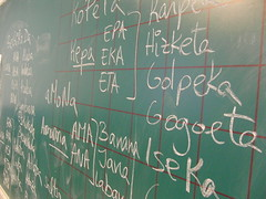 handwriting, chalk, writing, text, font, green, blackboard,