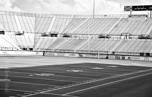 Football field black and white