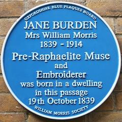 Photo of Jane Burden blue plaque