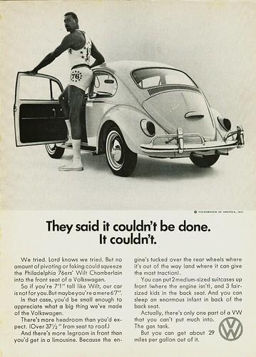 1966 Volkswagen Beetle Ad (Wilt Chamberlain)