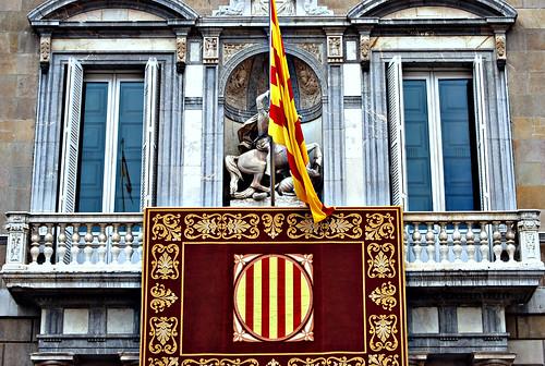 Balcon de la sede de la Generalitat