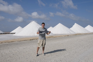 Brad ('05) at the Salt Mines in Kralendijk, Bonaire, Netherland Antilles