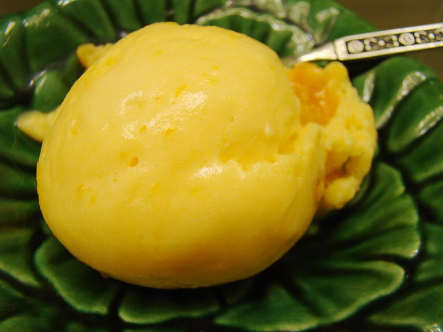 Mango Apricot Sorbet | Really great- I added dried apricots ...