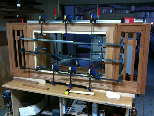 Gluing up the complete cabinet – this has been a long time coming!